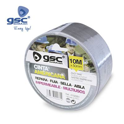 CINTA AMERICANA IMPERMEABLE GRIS 50MM 30M